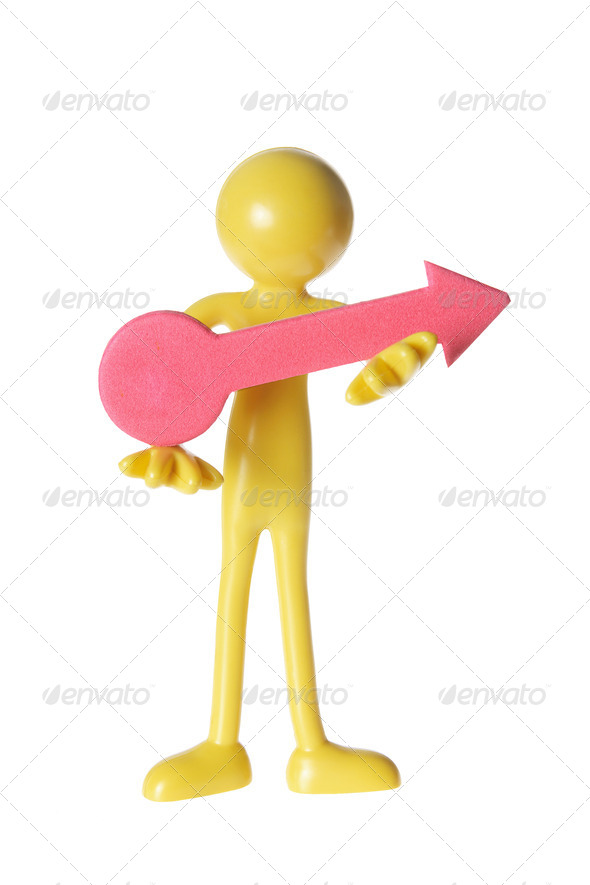 Figure with Arrow - Stock Photo - Images