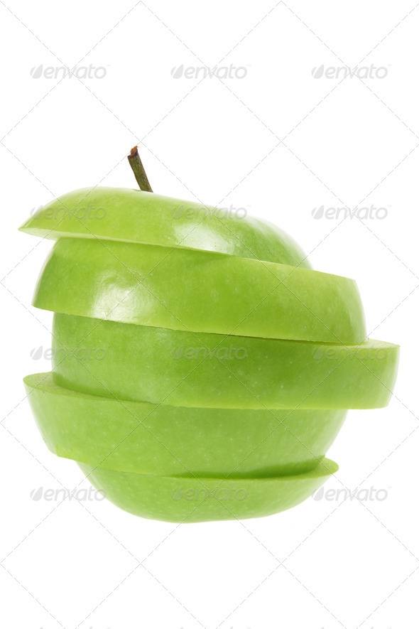Slices of Granny Smith Apple - Stock Photo - Images