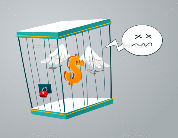 Trapped In A Cage - Concepts Business