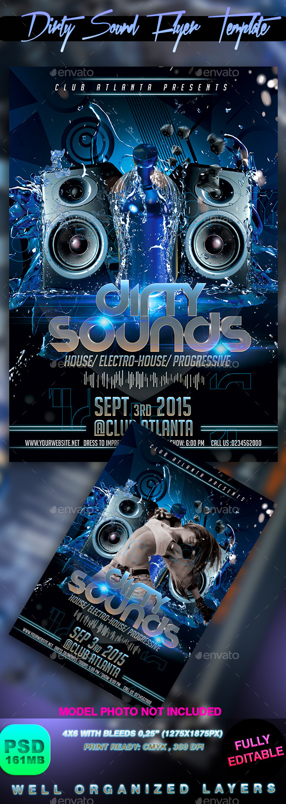 Dirty Sound Flyer Template - Events Flyers