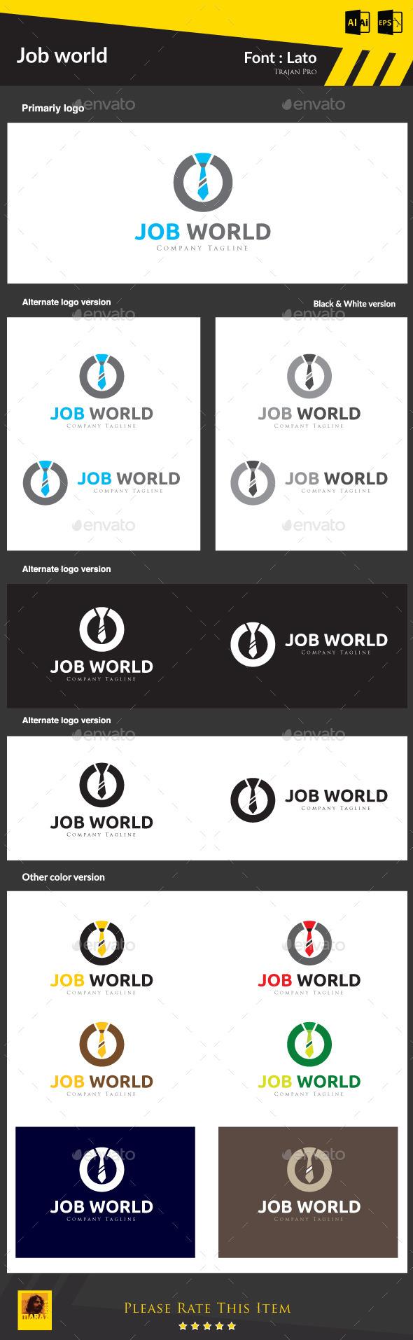 Job World - Symbols Logo Templates