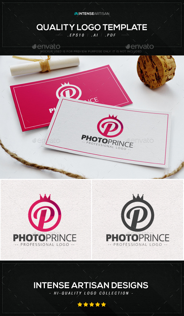 Photo Prince Logo Template - Letters Logo Templates