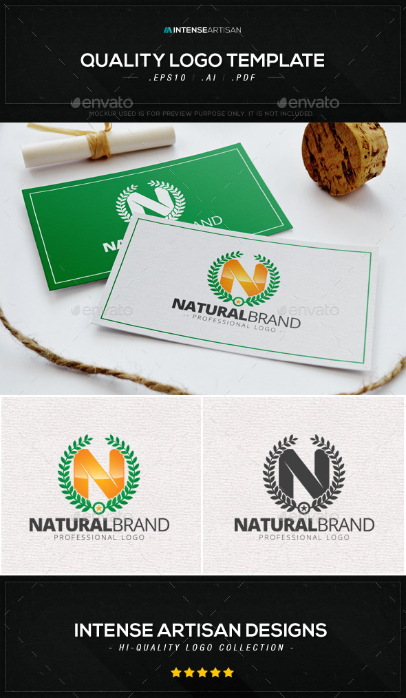 Natural Brand Logo Template - Crests Logo Templates