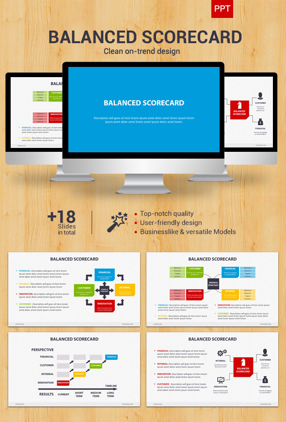 balanced scorecard powerpoint by creapack graphicriver. Black Bedroom Furniture Sets. Home Design Ideas