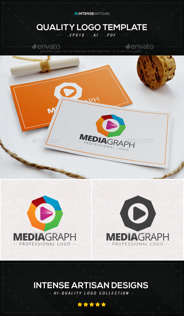 Media Graph Logo Template - Objects Logo Templates