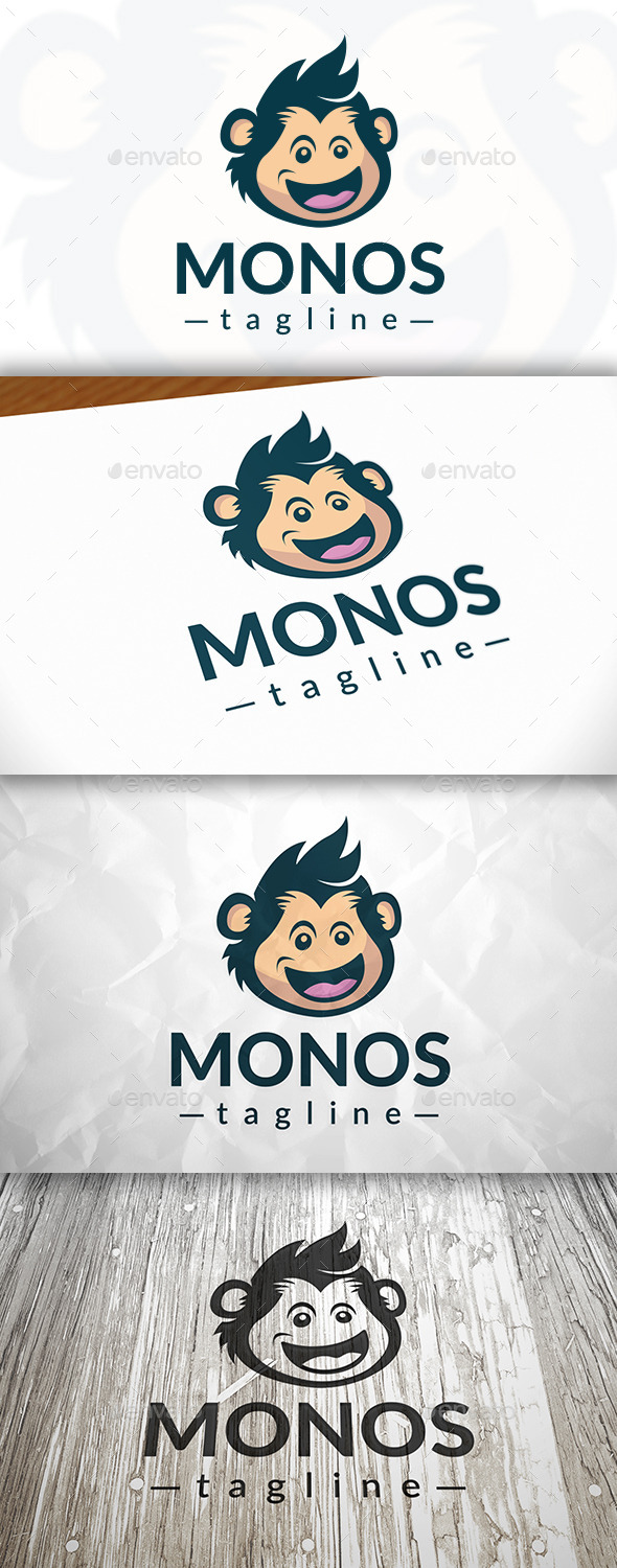 Happy Monkey Logo - Animals Logo Templates