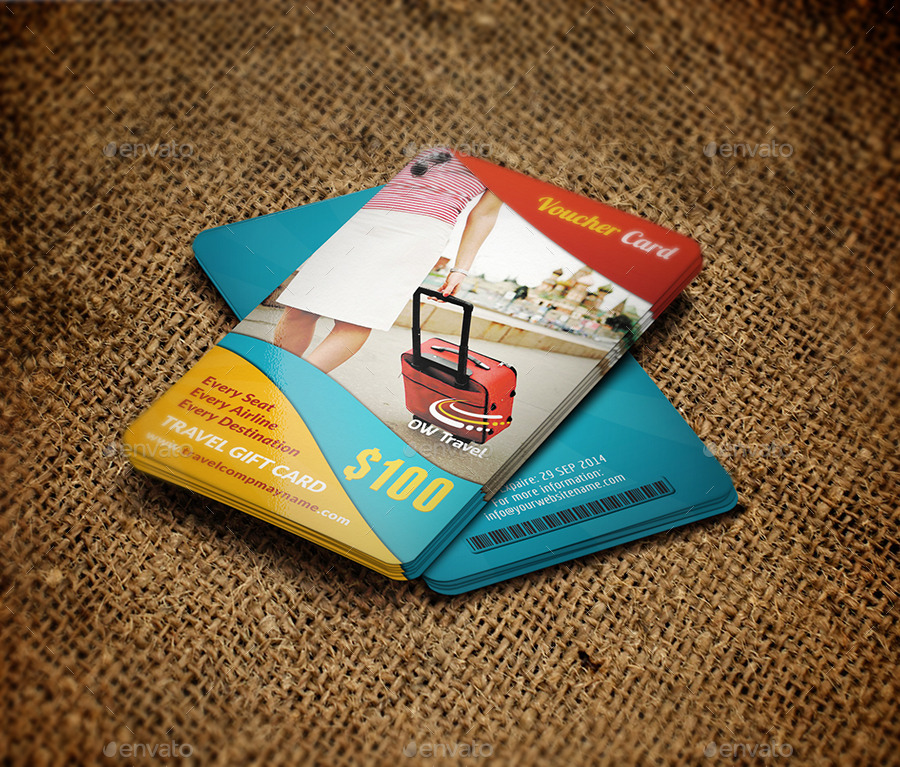 Travel Gift Vouchers Wedding Gifts: Travel Gift Voucher Card Template Vol.13 By OWPictures