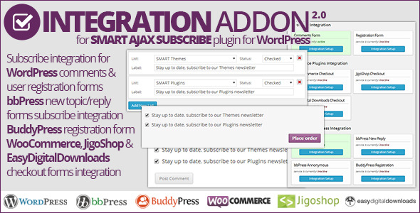 Smart AJAX Subscribe: Integration Addon