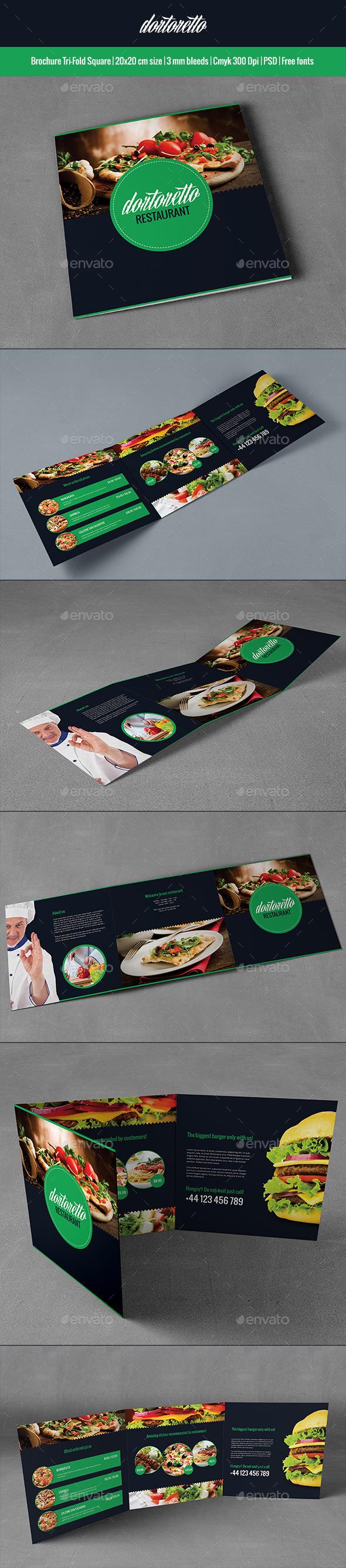 Dortoretto Brochure Tri-Fold Square - Brochures Print Templates