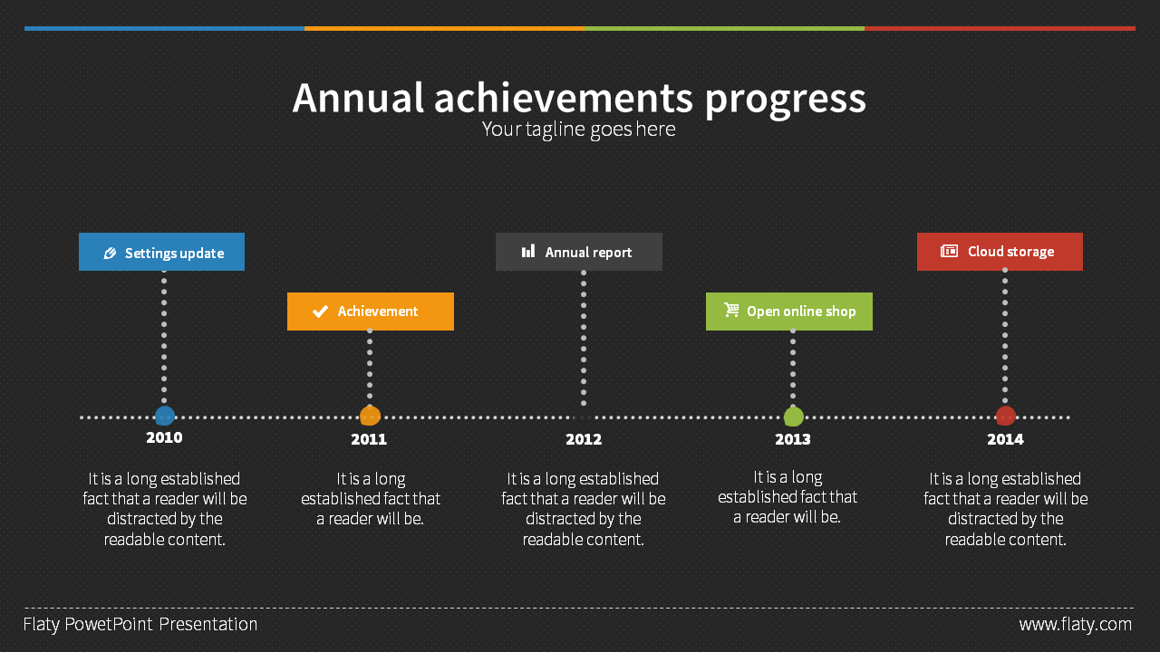 flaty powerpoint presentation templateheysolutions | graphicriver, Achievement Presentation Template, Presentation templates