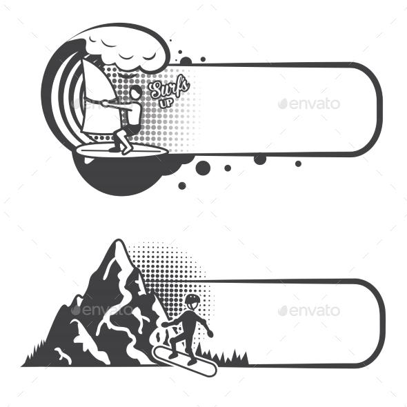 Extreme Sports Bookmarks - Borders Decorative