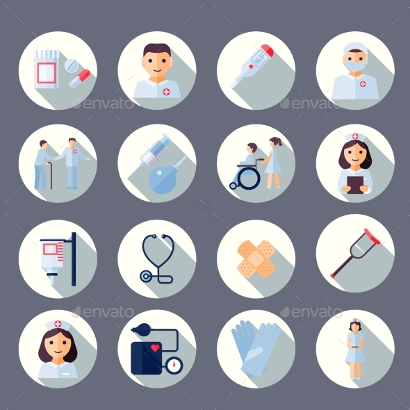 Nurse Icon Set - Health/Medicine Conceptual