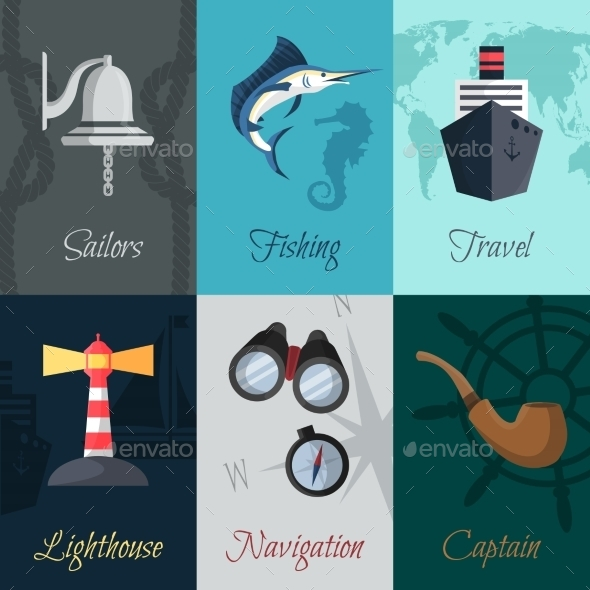 Nautical Mini Posters Set - Travel Conceptual