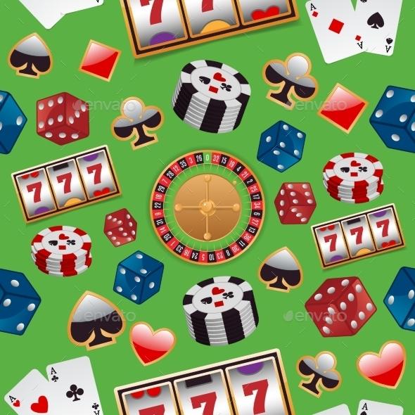 Casino Seamless Pattern - Backgrounds Decorative