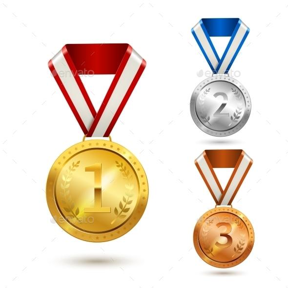 Award Medals Set - Sports/Activity Conceptual
