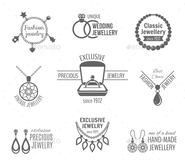 Jewelry Label Set - Retail Commercial / Shopping