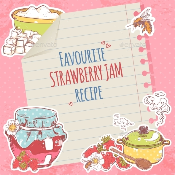 Strawberry Jam Poster - Food Objects
