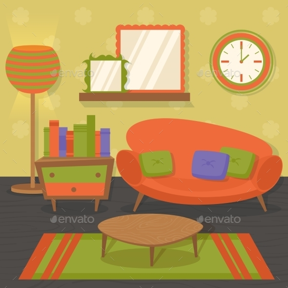 Interior Design Sofa - Miscellaneous Vectors