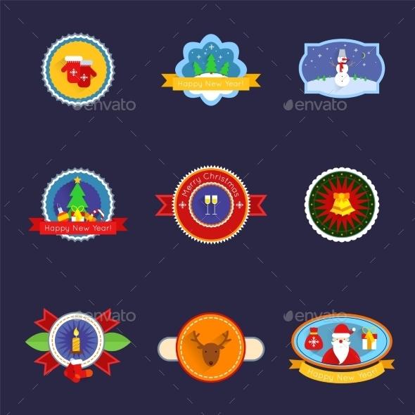 Christmas Label Set - Christmas Seasons/Holidays