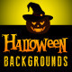 Halloween Landscapes Backgrounds Cards - GraphicRiver Item for Sale