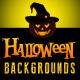 Halloween Landscapes Backgrounds Cards - GraphicRiver Item for Sale