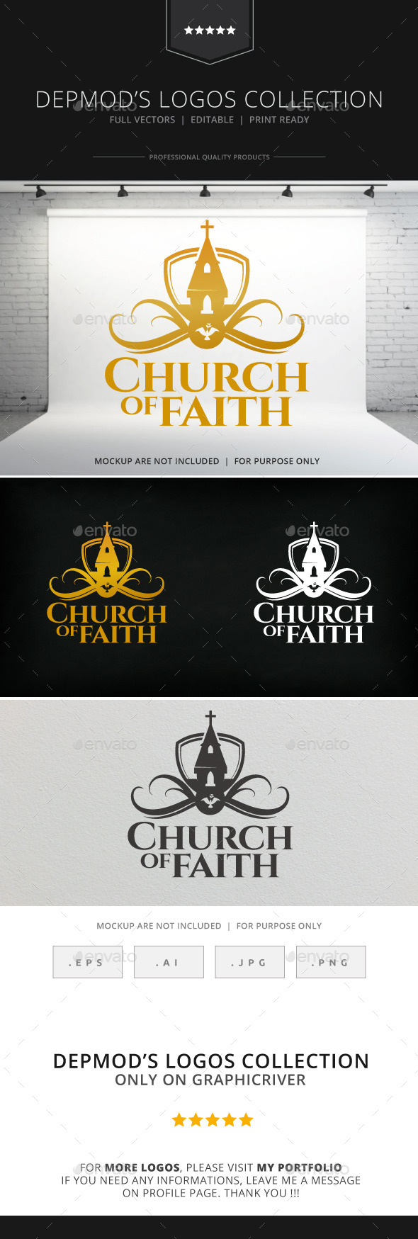 Church of Faith Logo - Crests Logo Templates