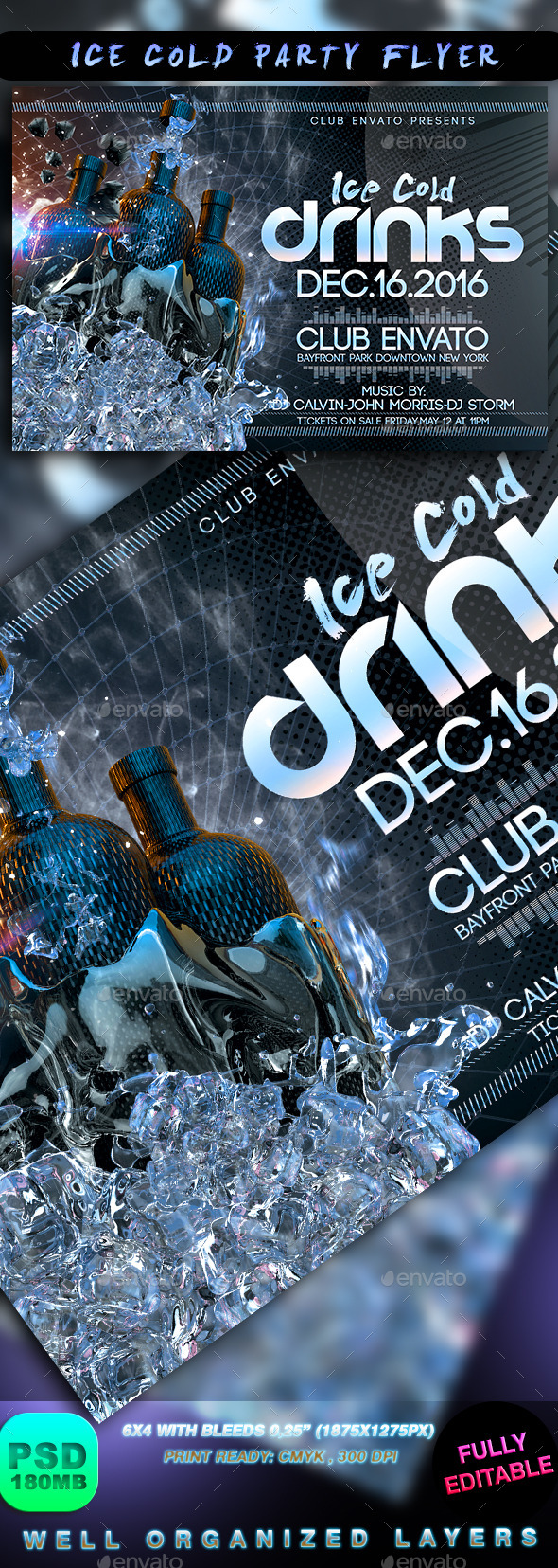 Ice Cold Party Flyer - Events Flyers