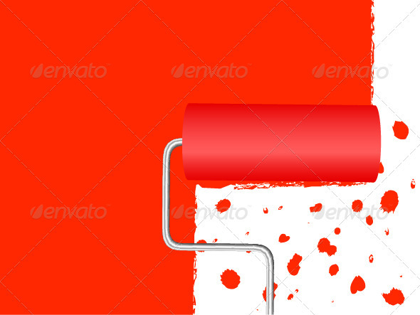 Paint Roller Background - Backgrounds Decorative