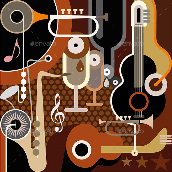 Abstract Music Background - Man-made Objects Objects