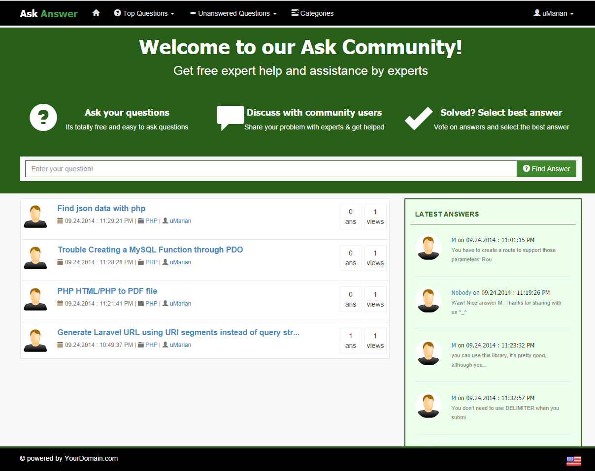 Ask & Answer - Community Script