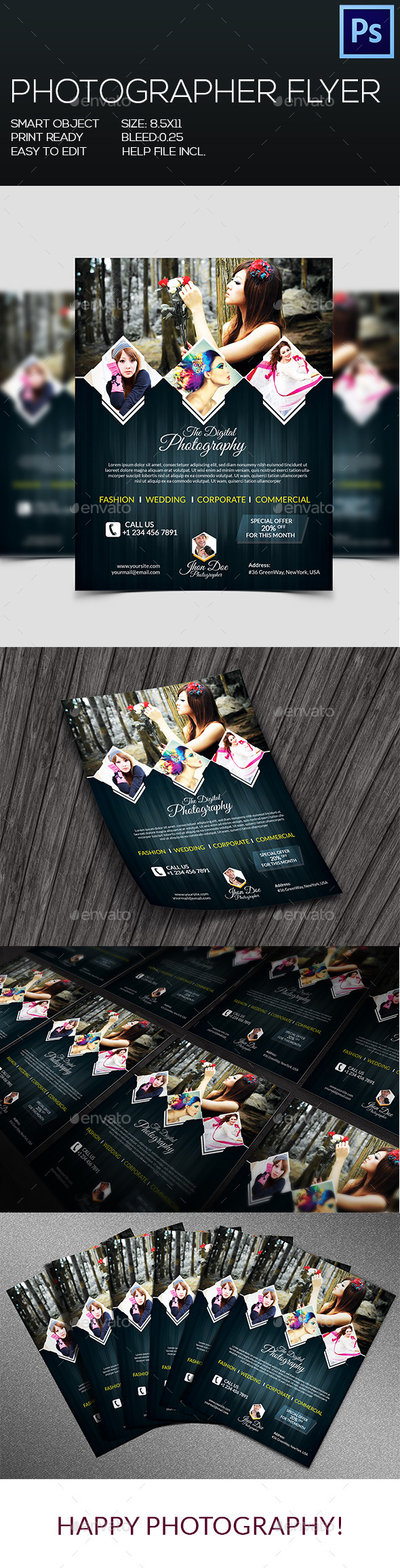 Photographer Flyer V-2 - Corporate Flyers