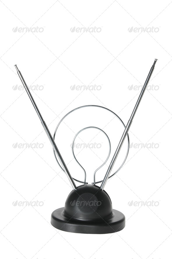 Indoor TV Antenna - Stock Photo - Images