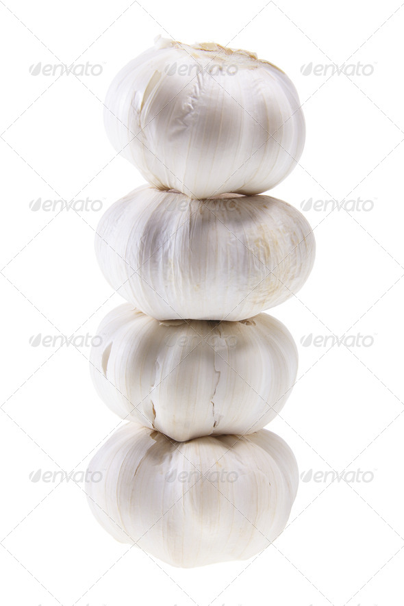 Stack of Garlic - Stock Photo - Images