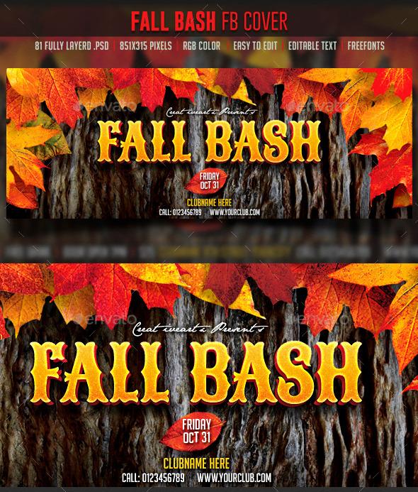 Fall Bash FB cover - Facebook Timeline Covers Social Media