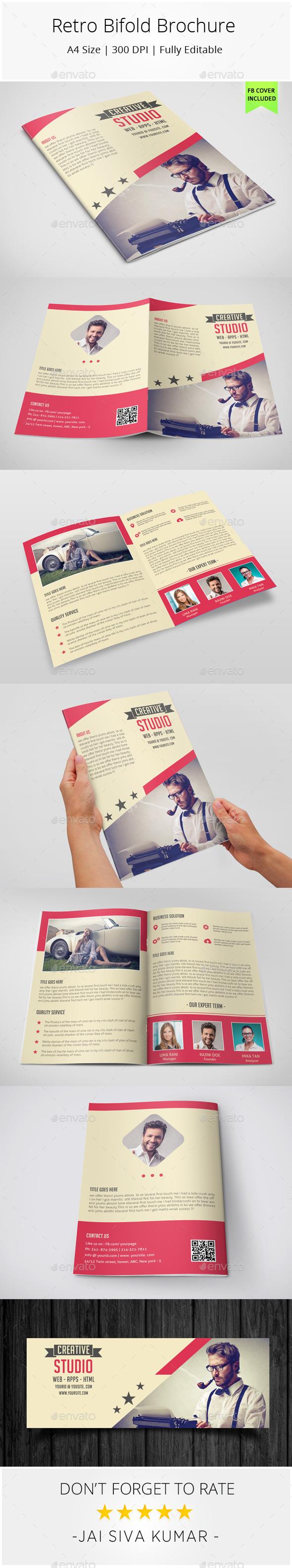 Retro Bifold Brochure - Informational Brochures