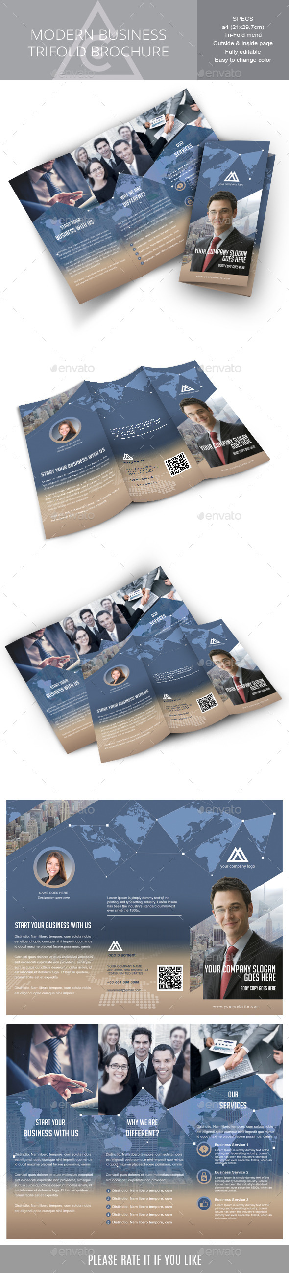 Tri-fold brochure for Corporate Business - Corporate Brochures