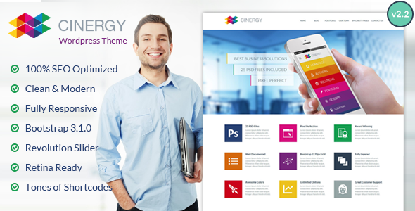 Cinergy – Modern Business WordPress Theme