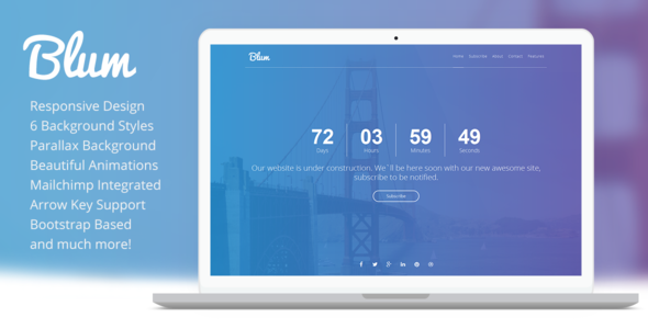 Blum – Responsive Coming Soon Template