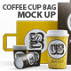 Branding / Identity Coffee Cup Bag Mockup - GraphicRiver Item for Sale
