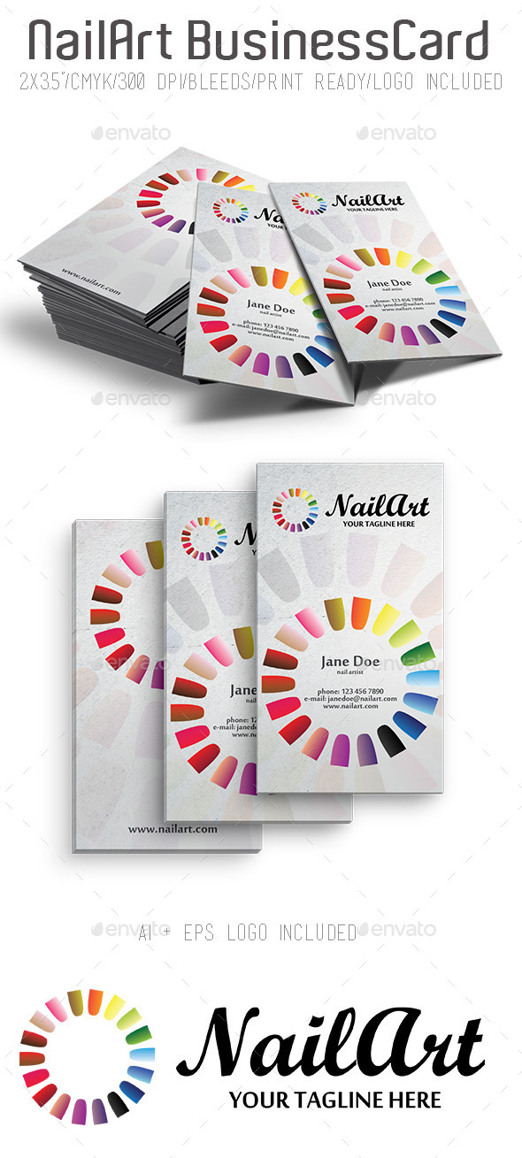 NailArt Business Card - Creative Business Cards