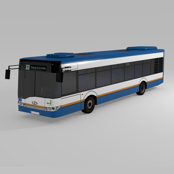 LOW POLY BUS  SOLARIS URBINO 12 - 3DOcean Item for Sale
