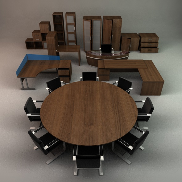 Office Furniture Collection - 3DOcean Item for Sale