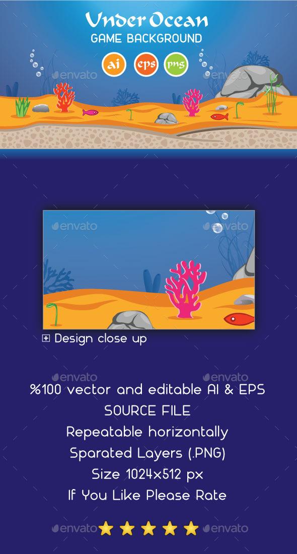 Under Ocean Game Background - Backgrounds Game Assets