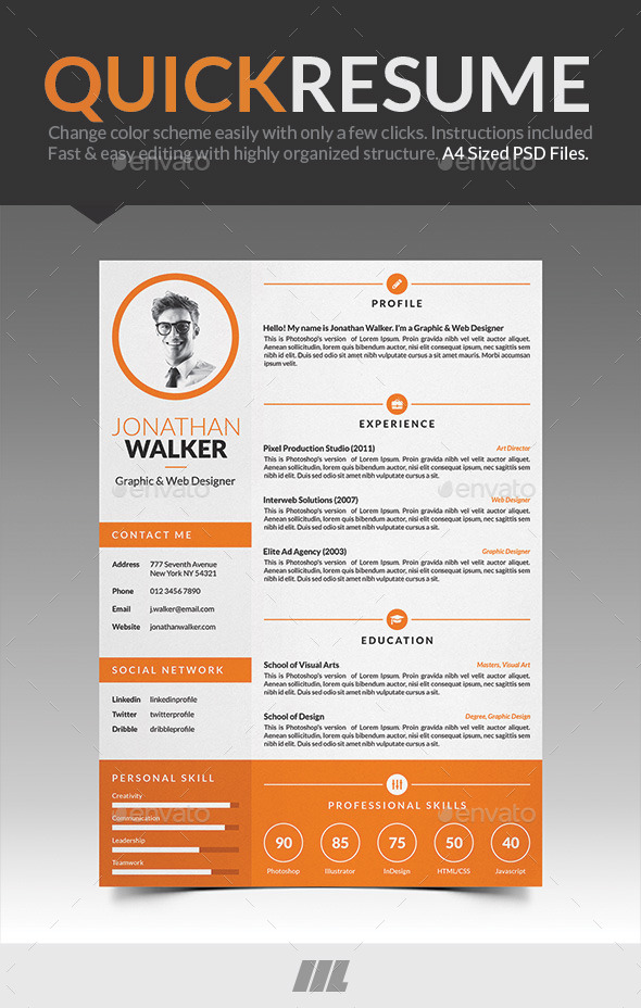 Quick Resume CV - Resumes Stationery