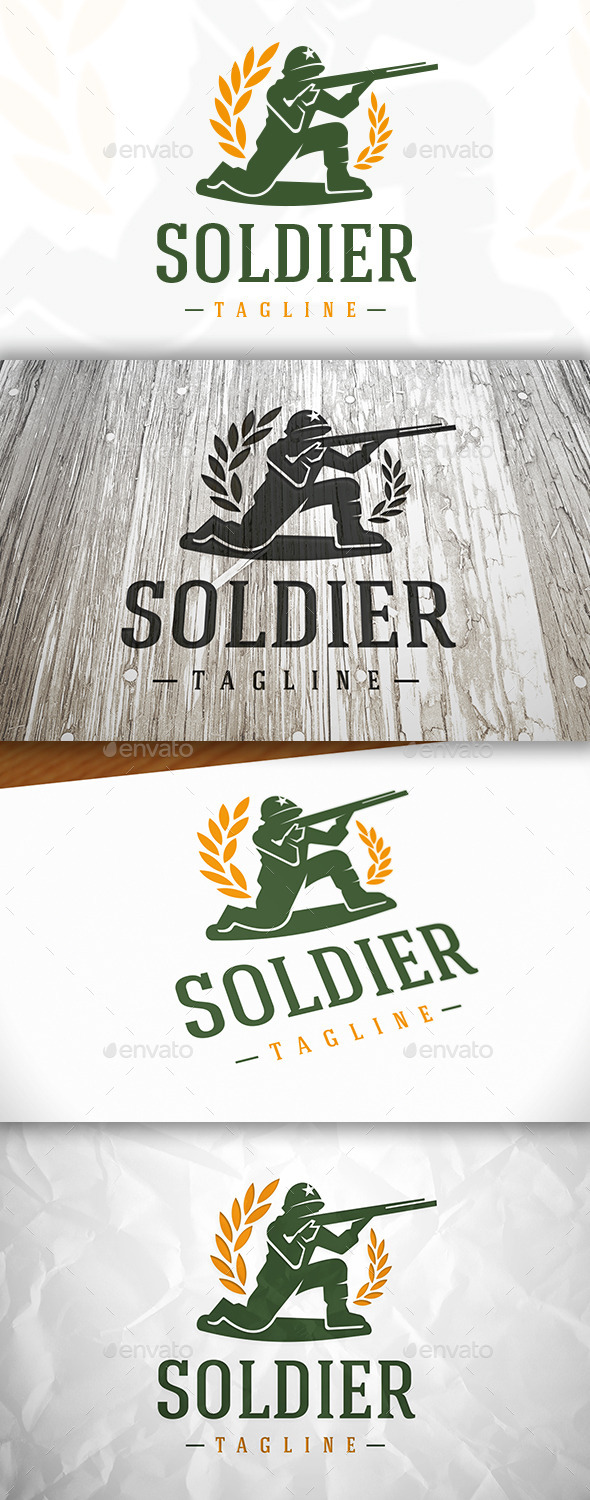 Soldier Logo - Humans Logo Templates