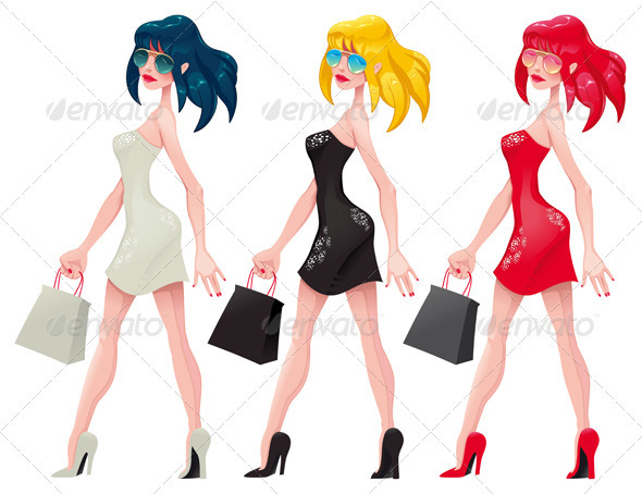 Shopping  Girls. - Commercial / Shopping Conceptual