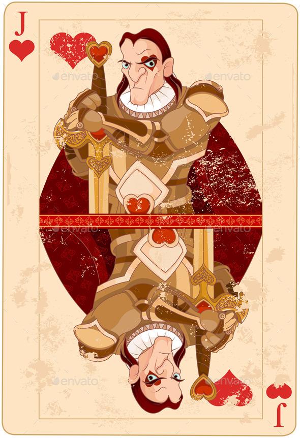 Jack of Hearts - Decorative Symbols Decorative