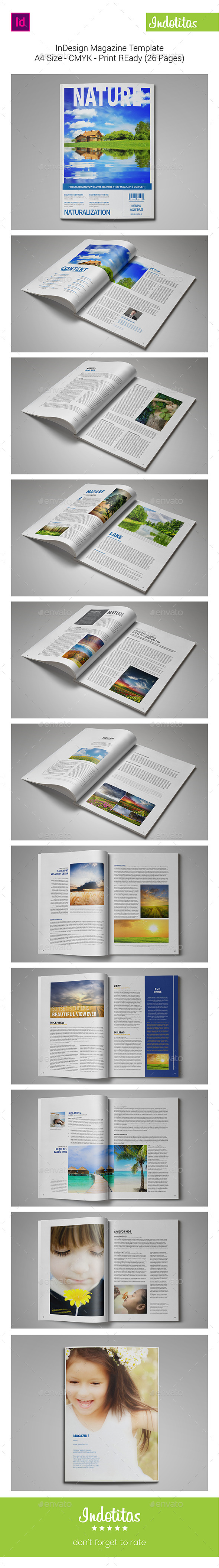 Nature Magazine Template - Magazines Print Templates