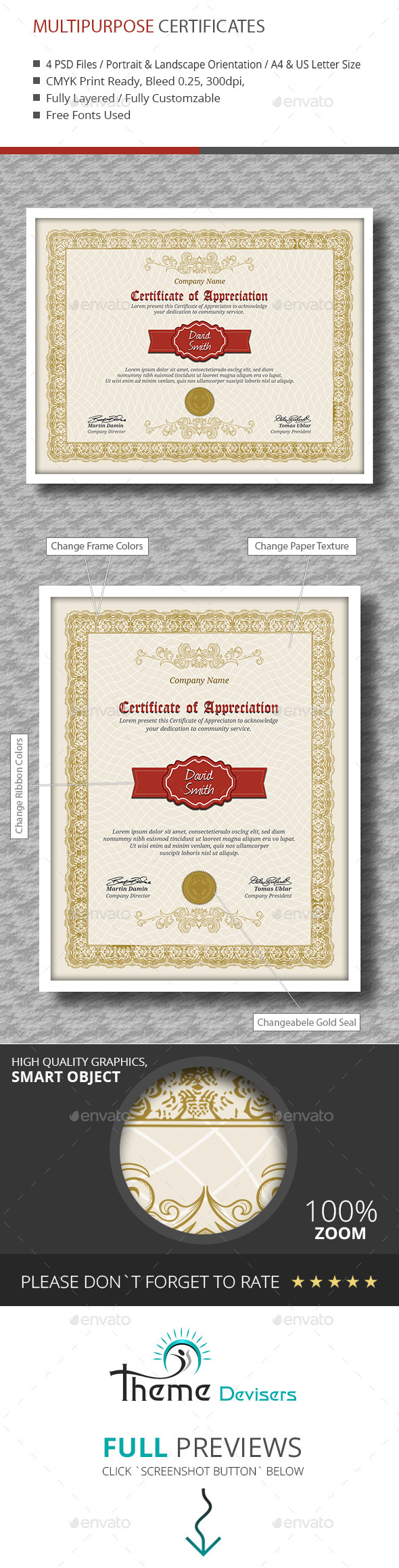 Certificate Psd Graphics Designs Templates From Graphicriver Page 2