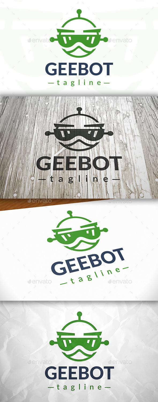 Geek Robot Logo - Symbols Logo Templates